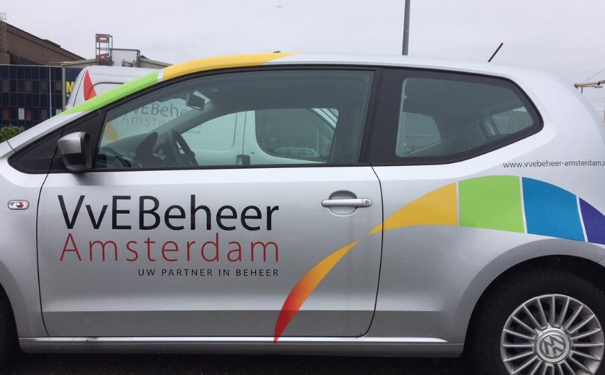 VVEBeheer Amsterdam auto belettering